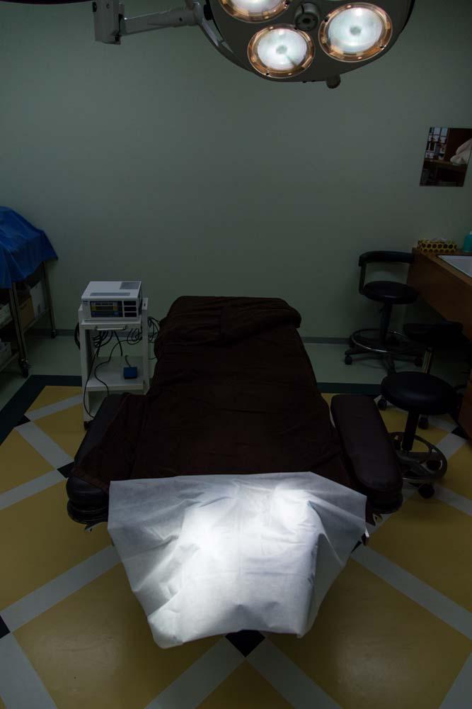 酒井形成外科の第二手術室