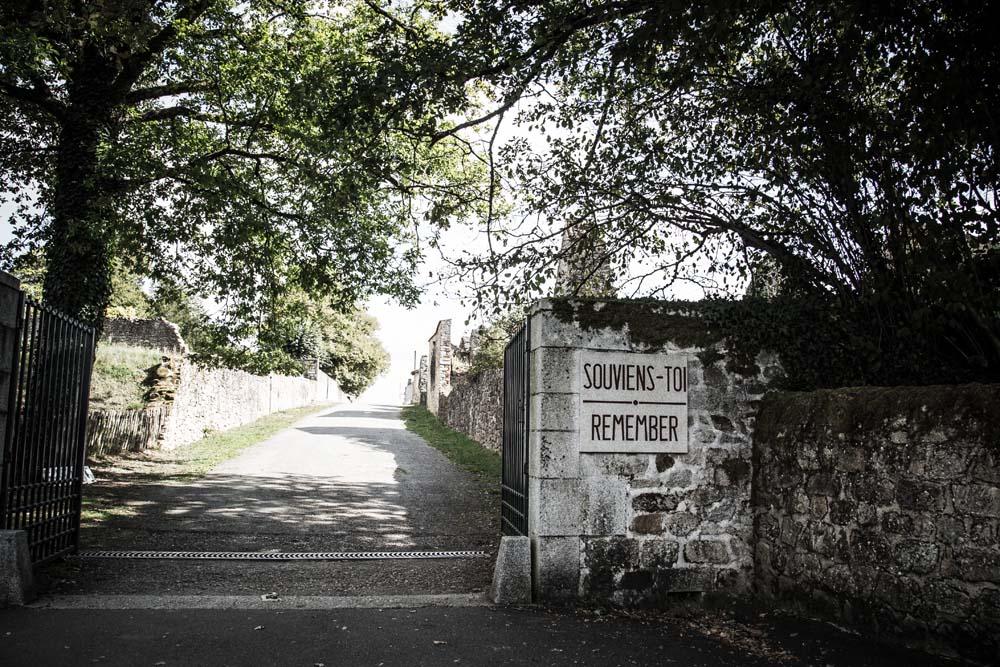 オラドゥール=シュル=グラヌの入口