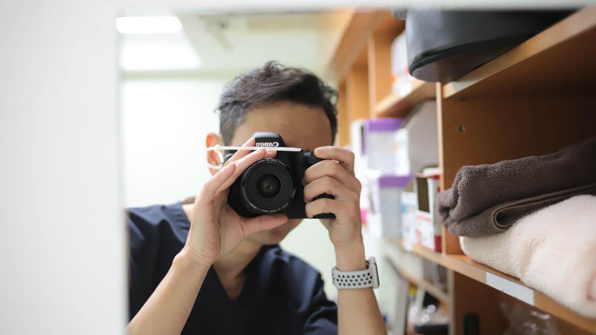 眼瞼下垂診療での写真記録